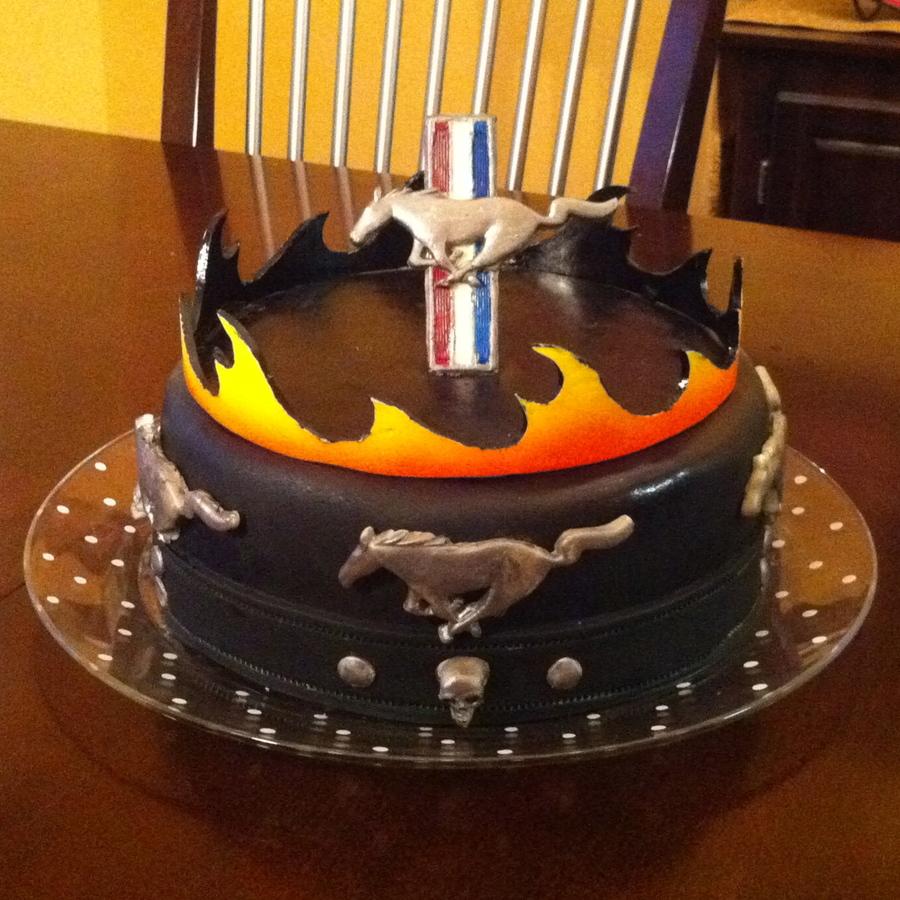 Racing Car Happy Birthday Cake