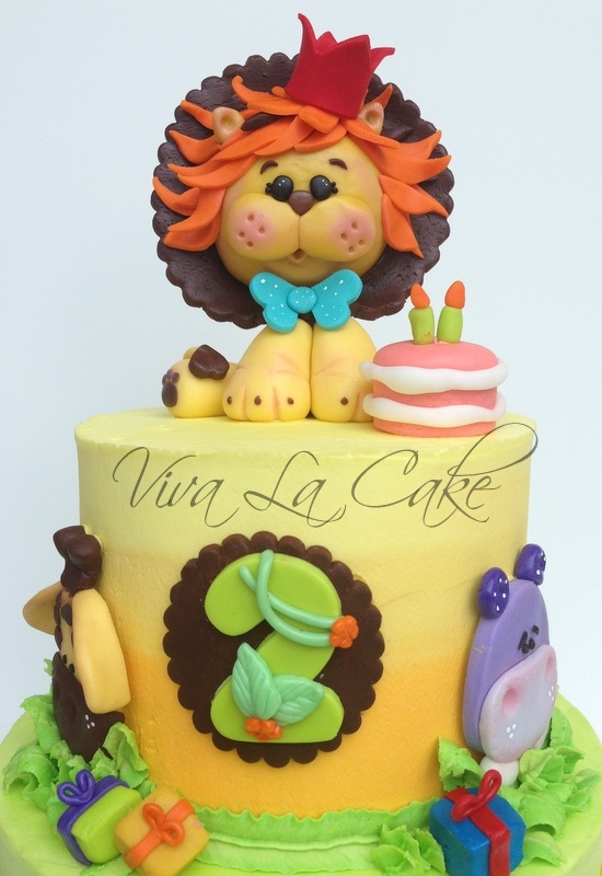 All Butter Cream Cake With Fondant Details And Topper I ...