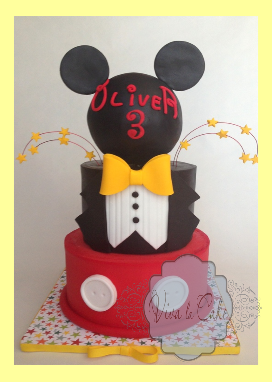 Master Of Ceremony Mickey Mouse Cake on Cake Central
