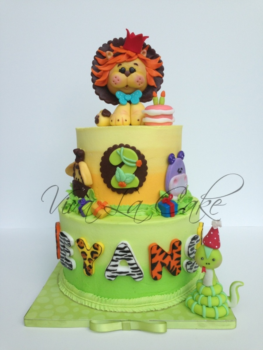Animal Jam First Birthday Cake