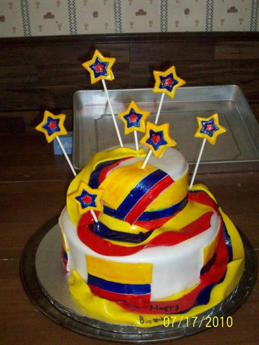 Colombia Birthday Cake Cakecentral Com