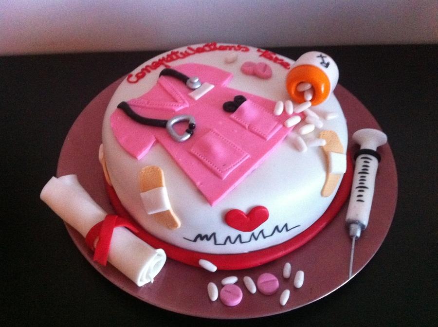 Nurse Graduation Cake Cakecentral Com