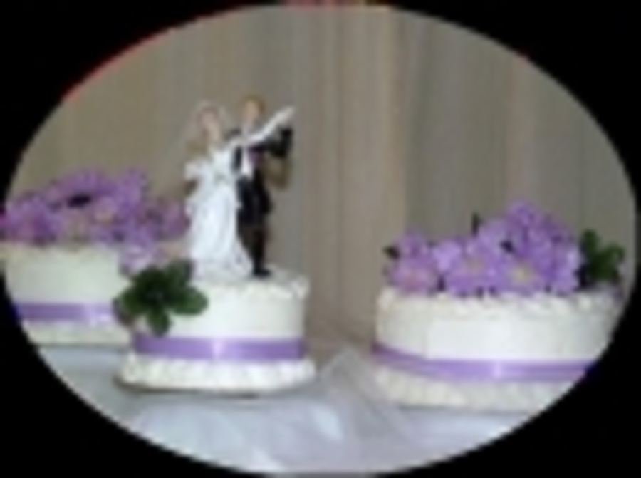 No Bake Lilac Wedding Cake on Cake Central