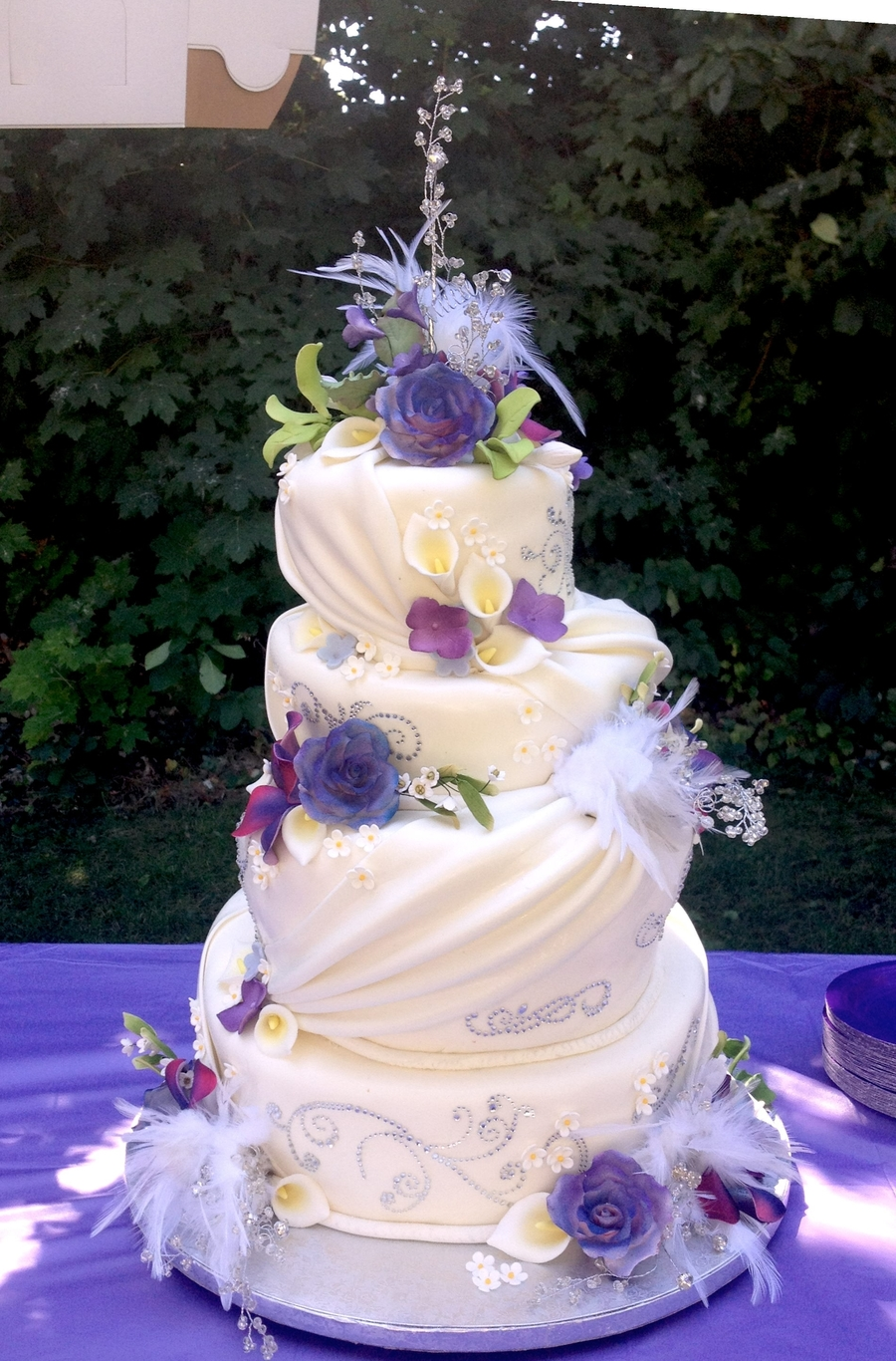Purple Topsy on Cake Central
