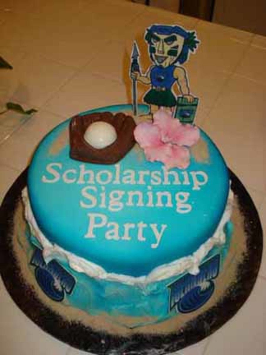 Scholarship Signing Party on Cake Central