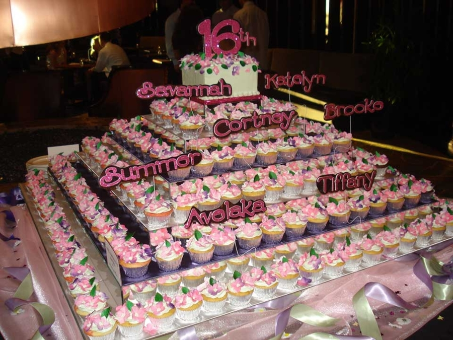 200 Cupcakes - 16Th Birthday Bash on Cake Central