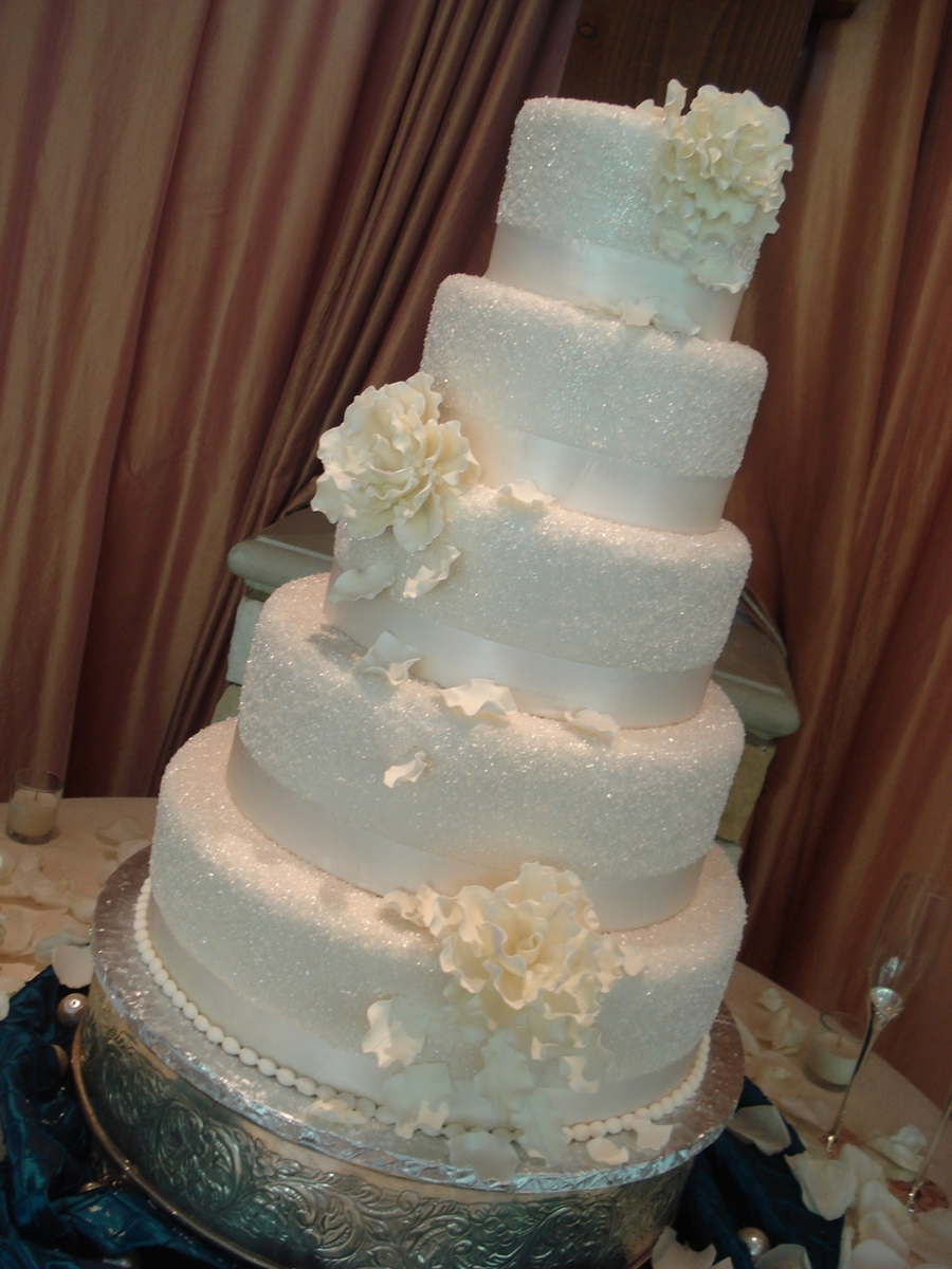 wedding cake with sugar crystals sugared wedding cakecentral 26969