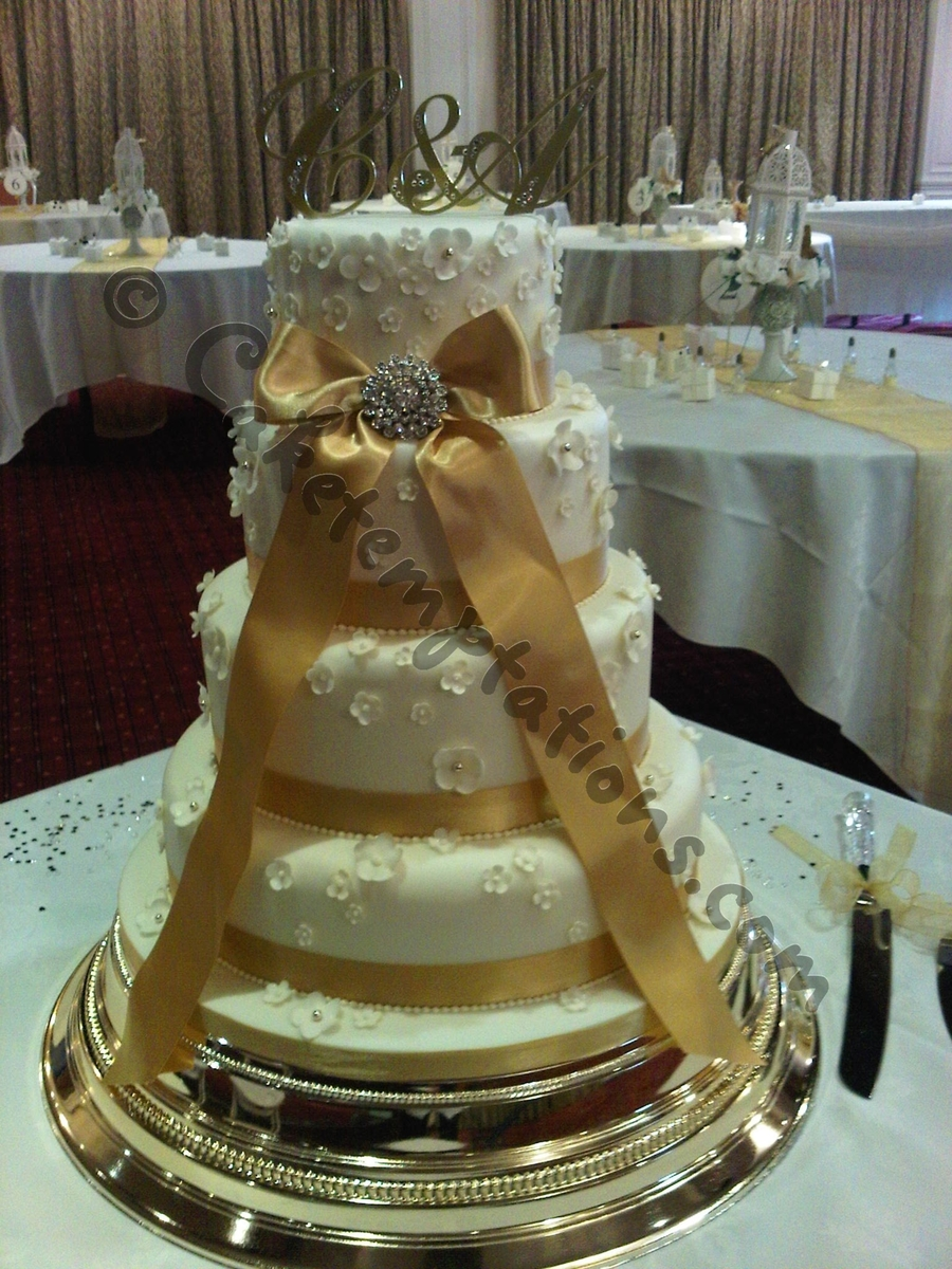 Romantic 4 Tier Wedding Cake on Cake Central