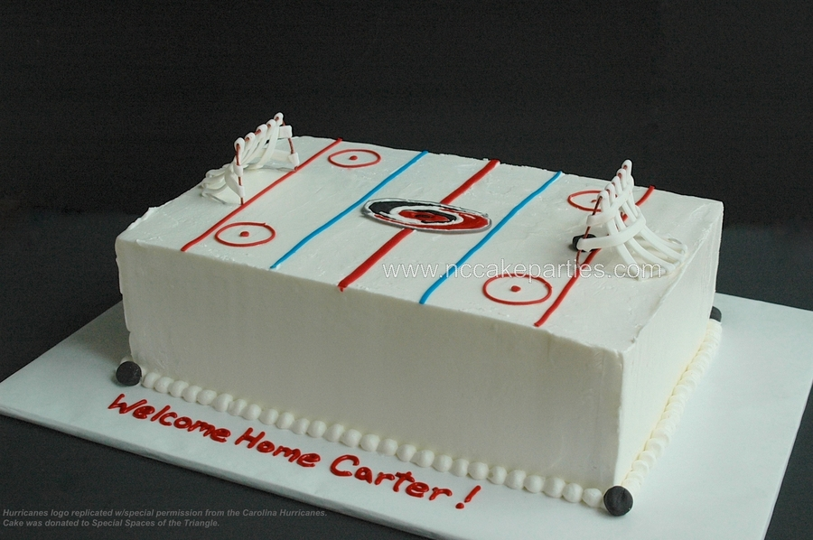 Special Spaces Hockey Cake  on Cake Central