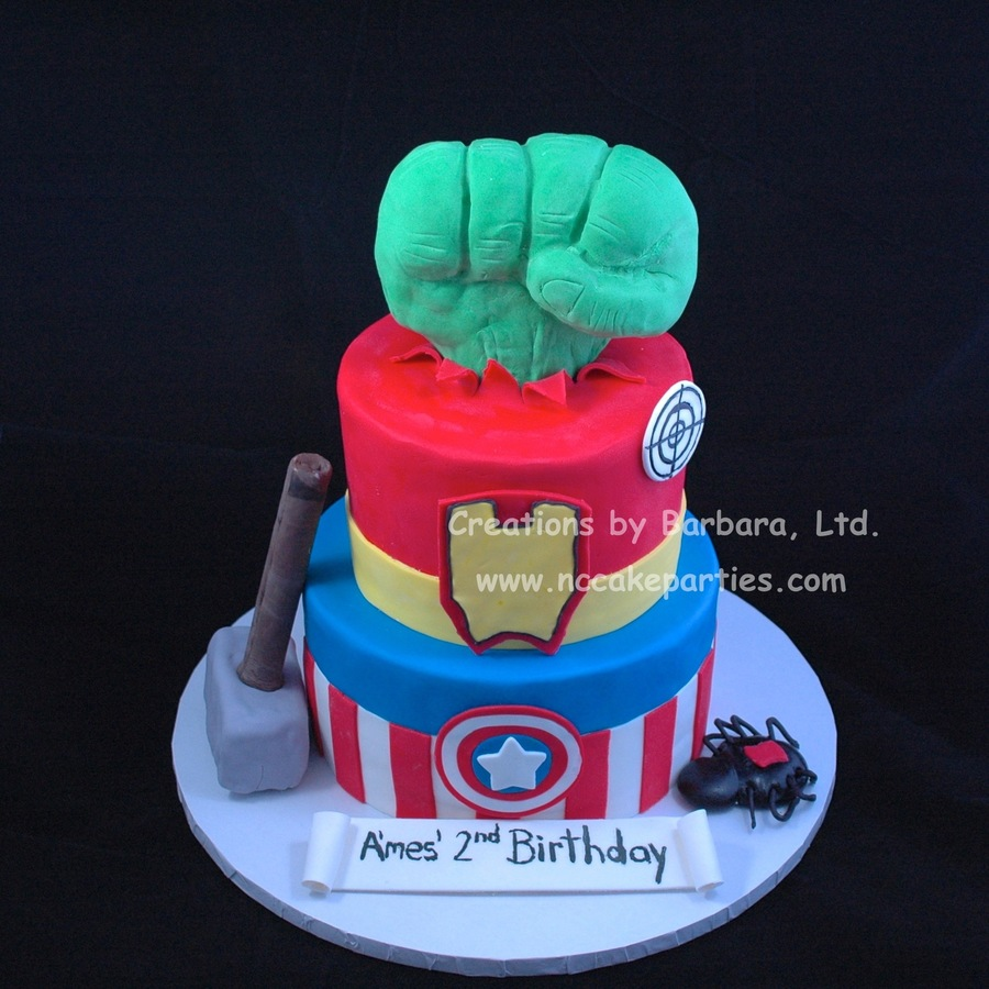 Fist And Hammer Bottom Is Rice Cereal Treats Hammer Handle Is Plastic Dowel Covered In Fondant All Other Details Are Fondant  on Cake Central
