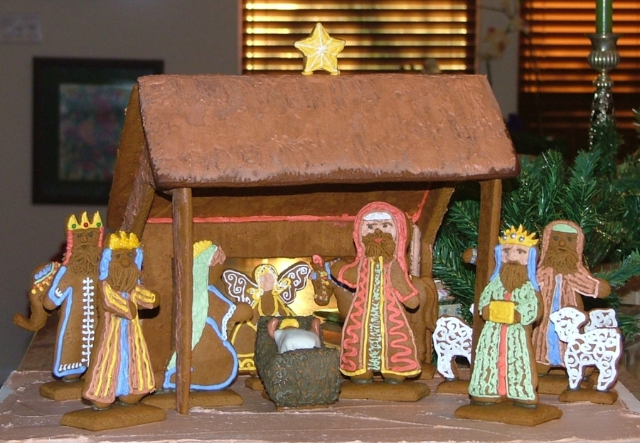 Gingerbread Nativity  on Cake Central