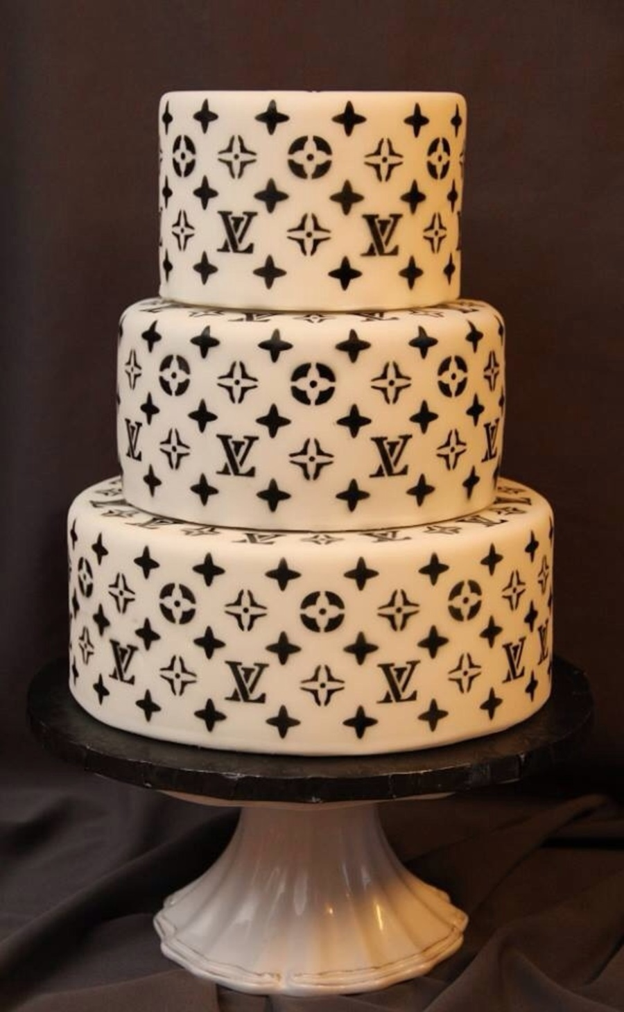 Louis Vuitton Cake Print Airbrushed On With A Stencil Top