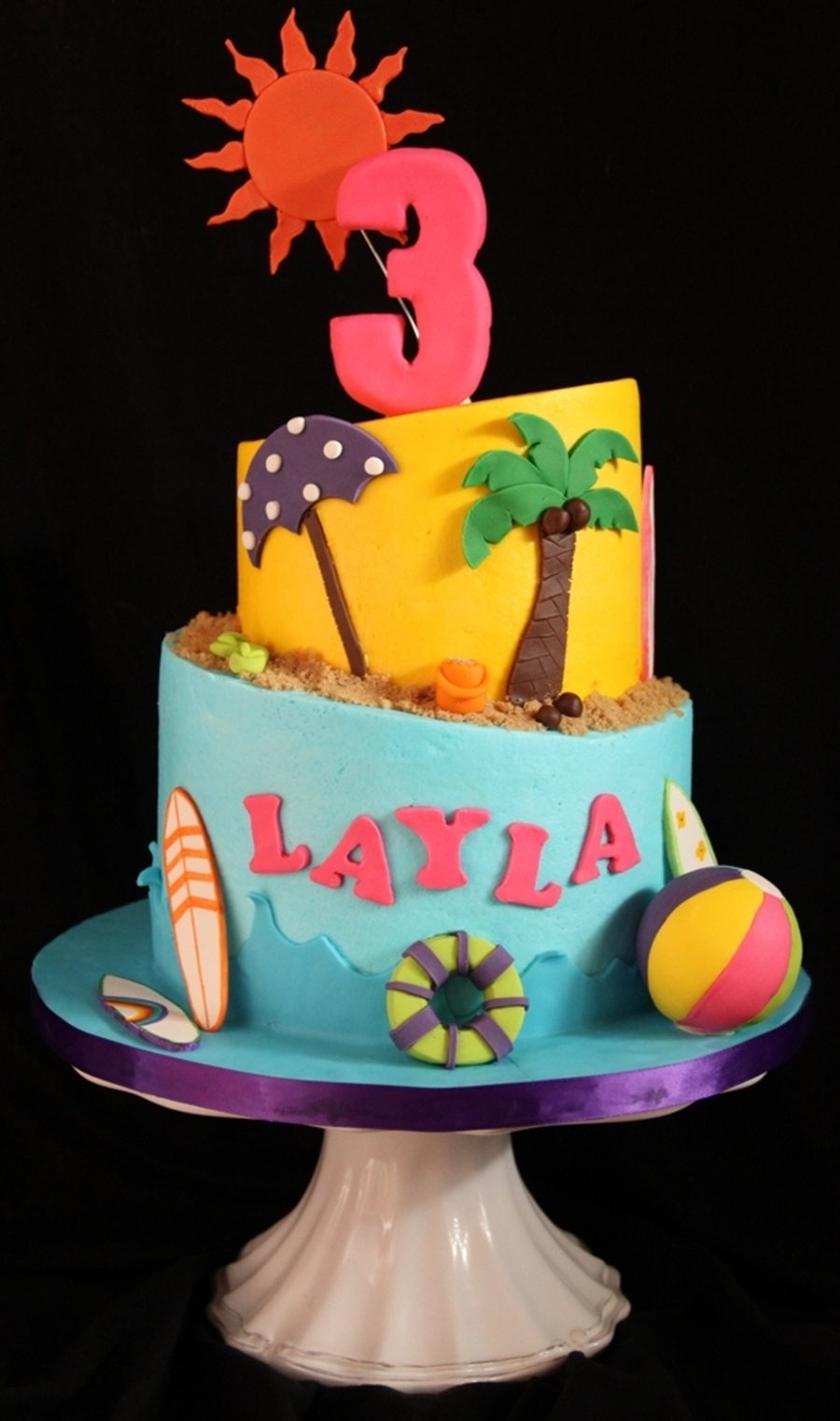 Layla's 3Rd on Cake Central