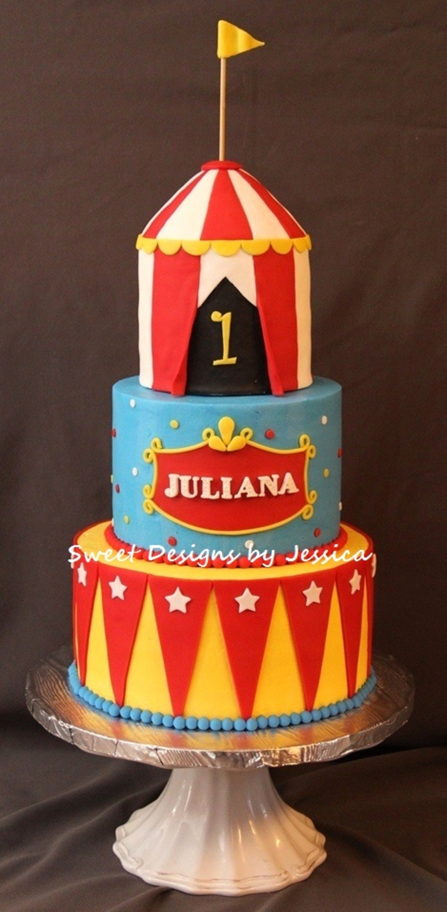Juliana's 1St Circus on Cake Central