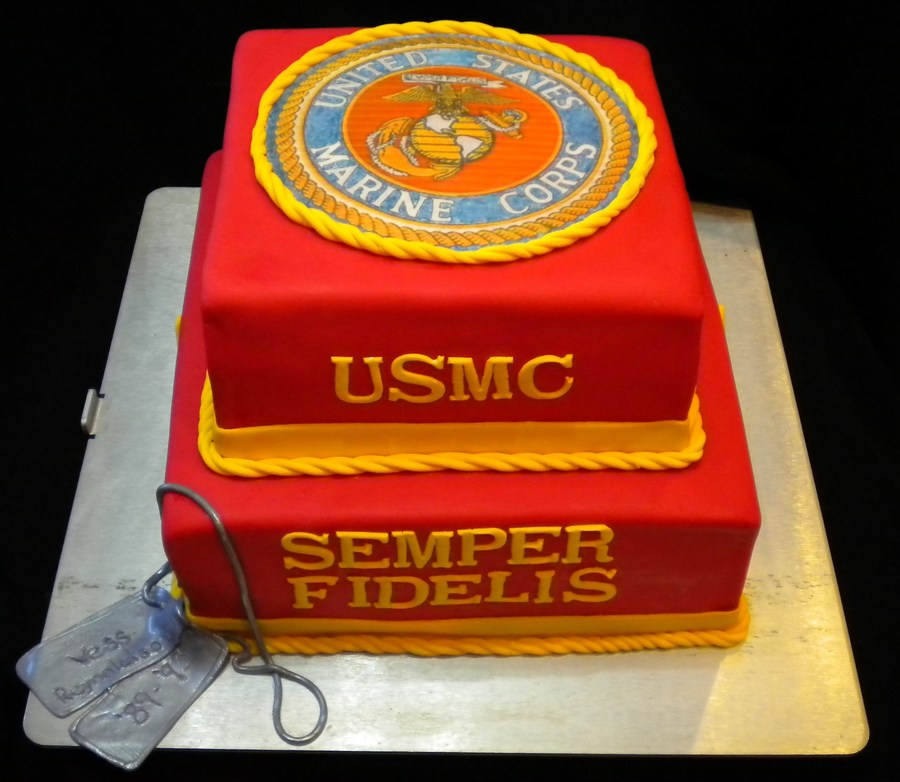 Marine Corps Grooms Cake On Central