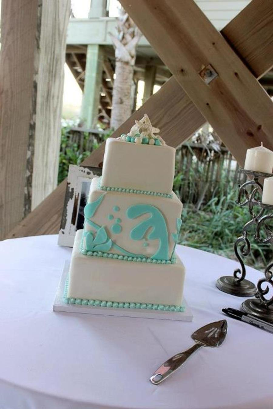 Beachside Wedding on Cake Central