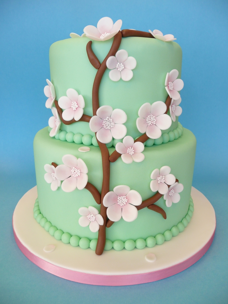 Blossom Weddingcake on Cake Central