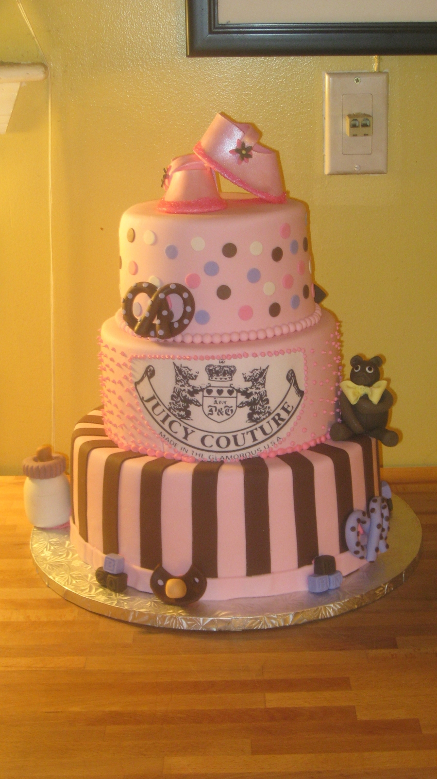 Juicy Couture Baby Shower Cake on Cake Central