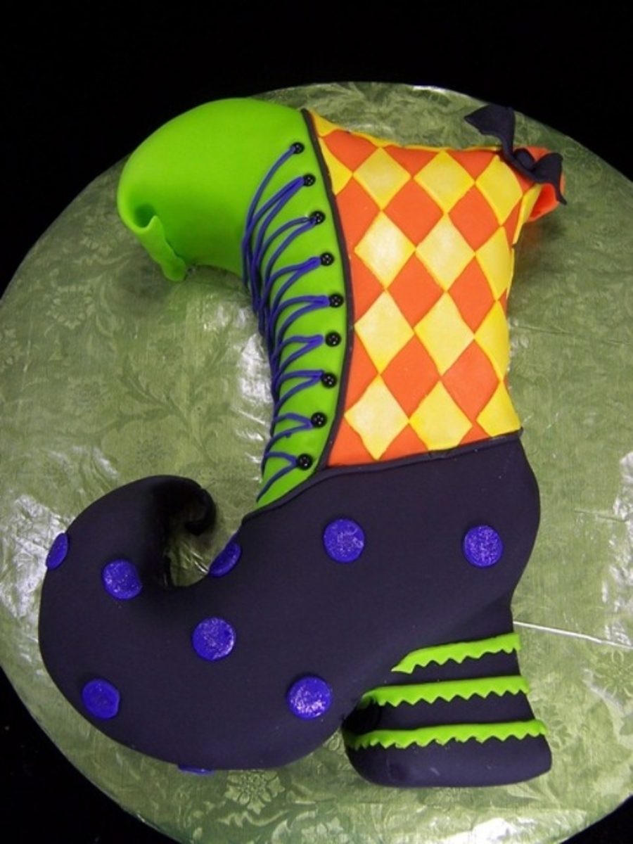 Witch Shoe Cake on Cake Central