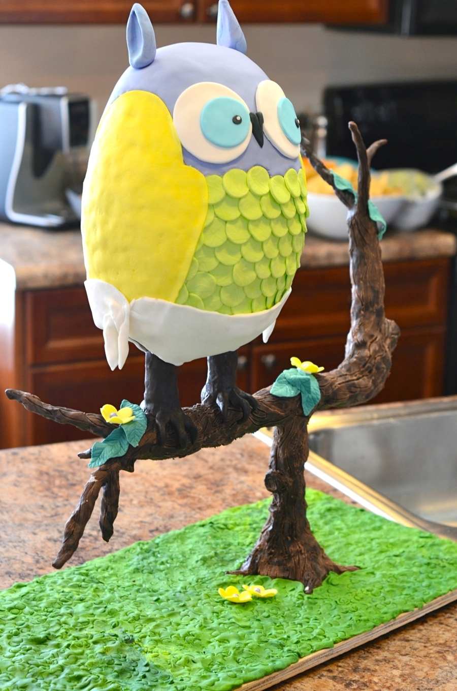 Beach Baby Shower Owl Cake on Cake Central