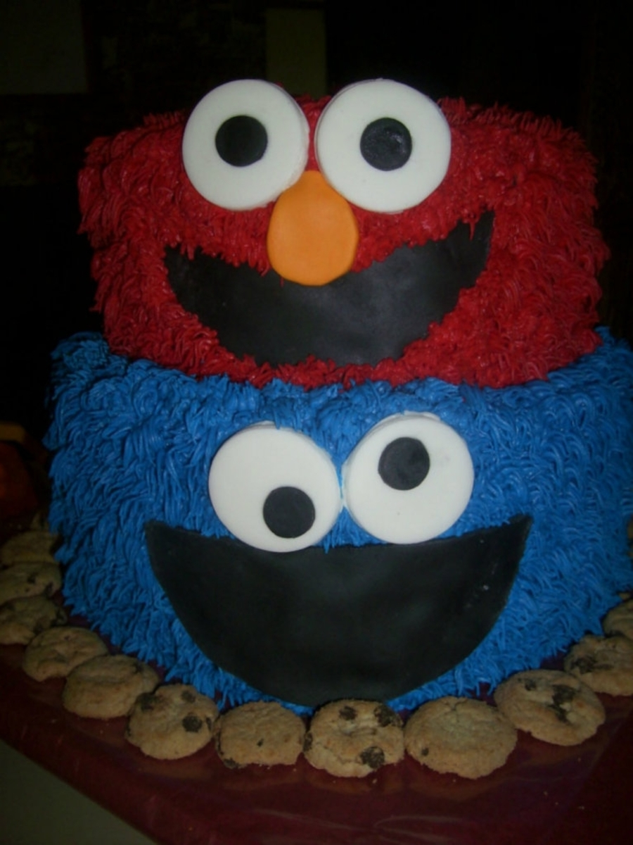 Elmo/cookie Monster on Cake Central