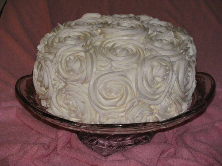 Rose Cake With Vertical Layers on Cake Central