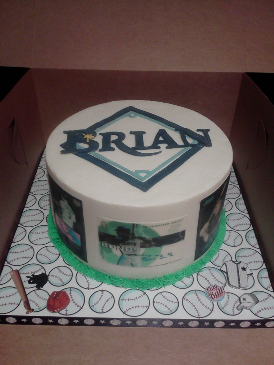 Tampa Bay Rays/baseball Cards on Cake Central