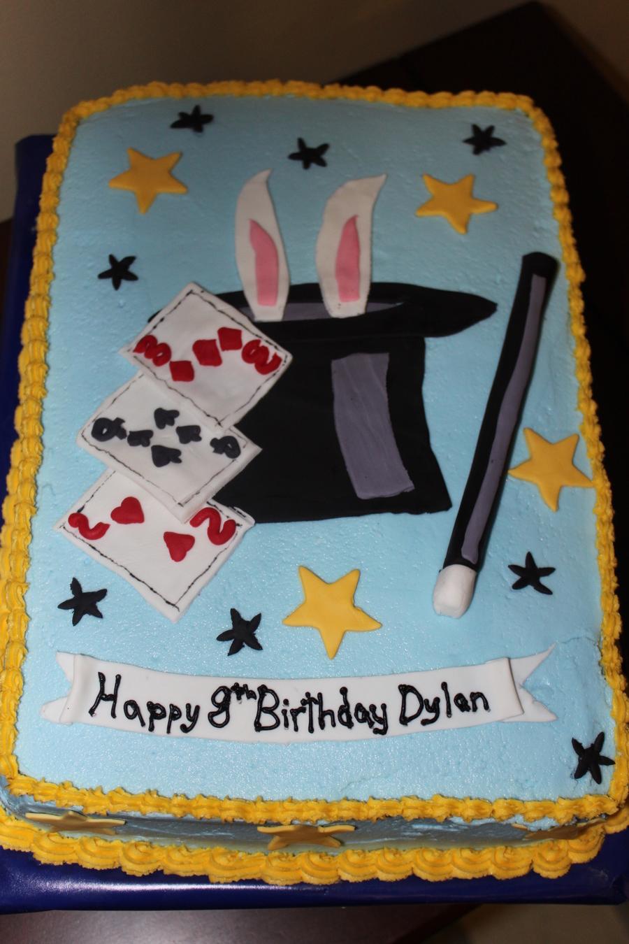 Magic Show Birthday Cake