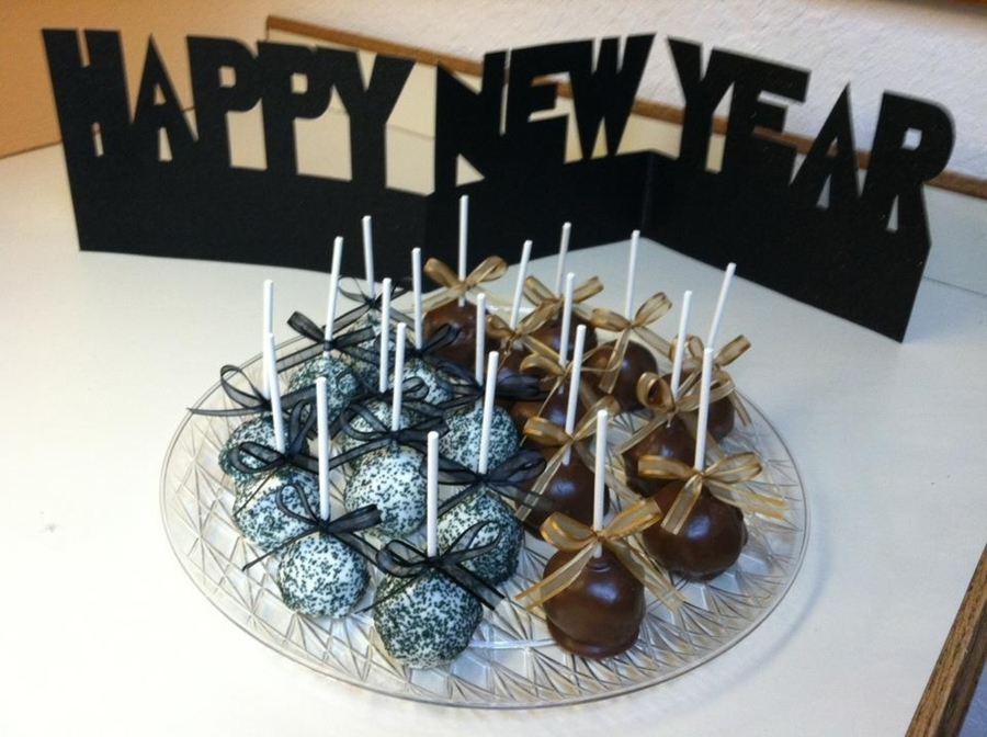 New Years Brownie Pops on Cake Central