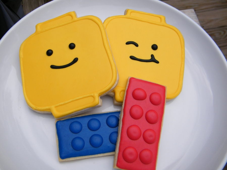 Lego Cookie Party Favors on Cake Central