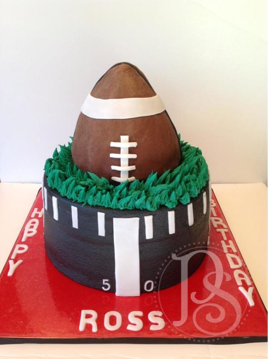 Football Cake For A Fan Of University Of Georgia  on Cake Central