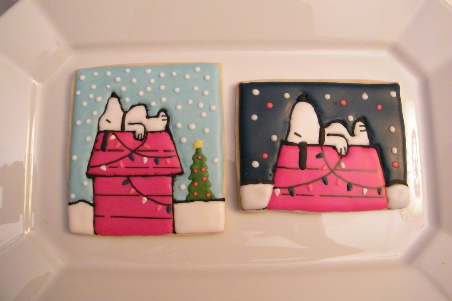 Charlie Brown Christmas Vintage Snoopy Cookies Cakecentral Com