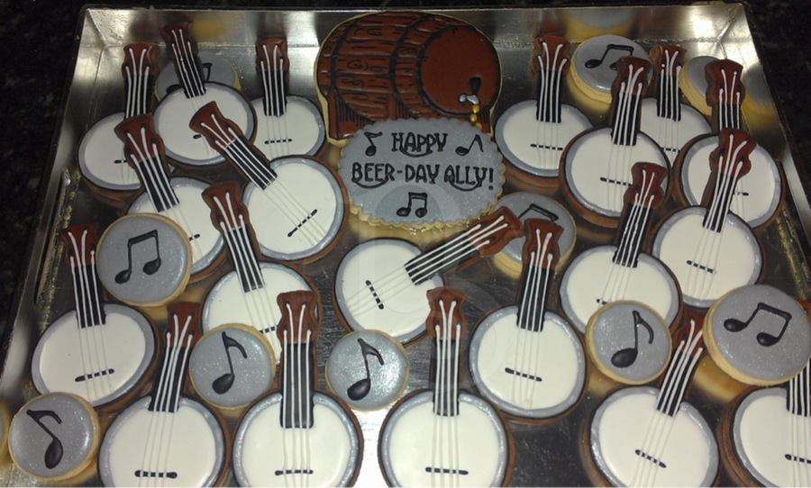 Beer Keg And Banjo Cookies on Cake Central
