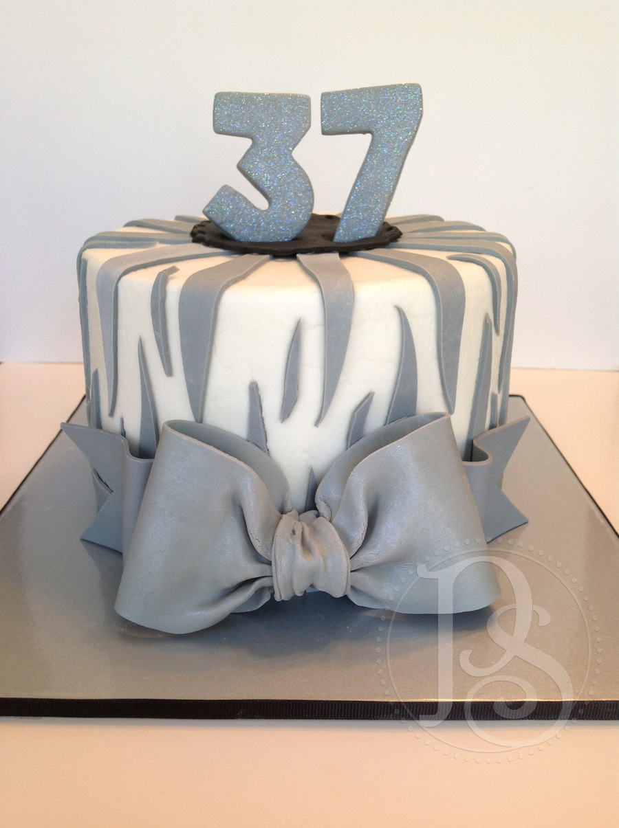 Gray Zebra Cake on Cake Central