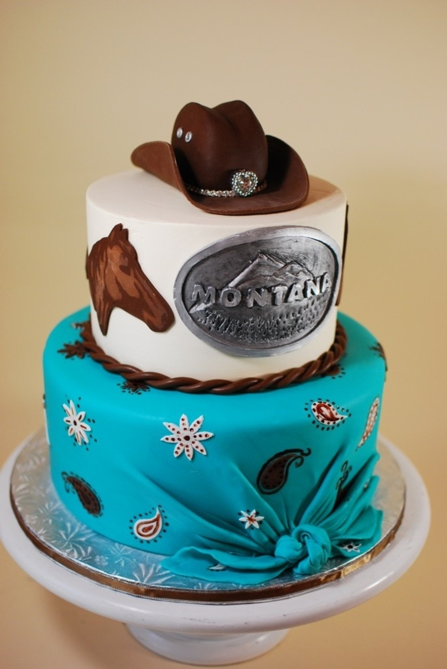 Cow Girl Birthday Cake on Cake Central