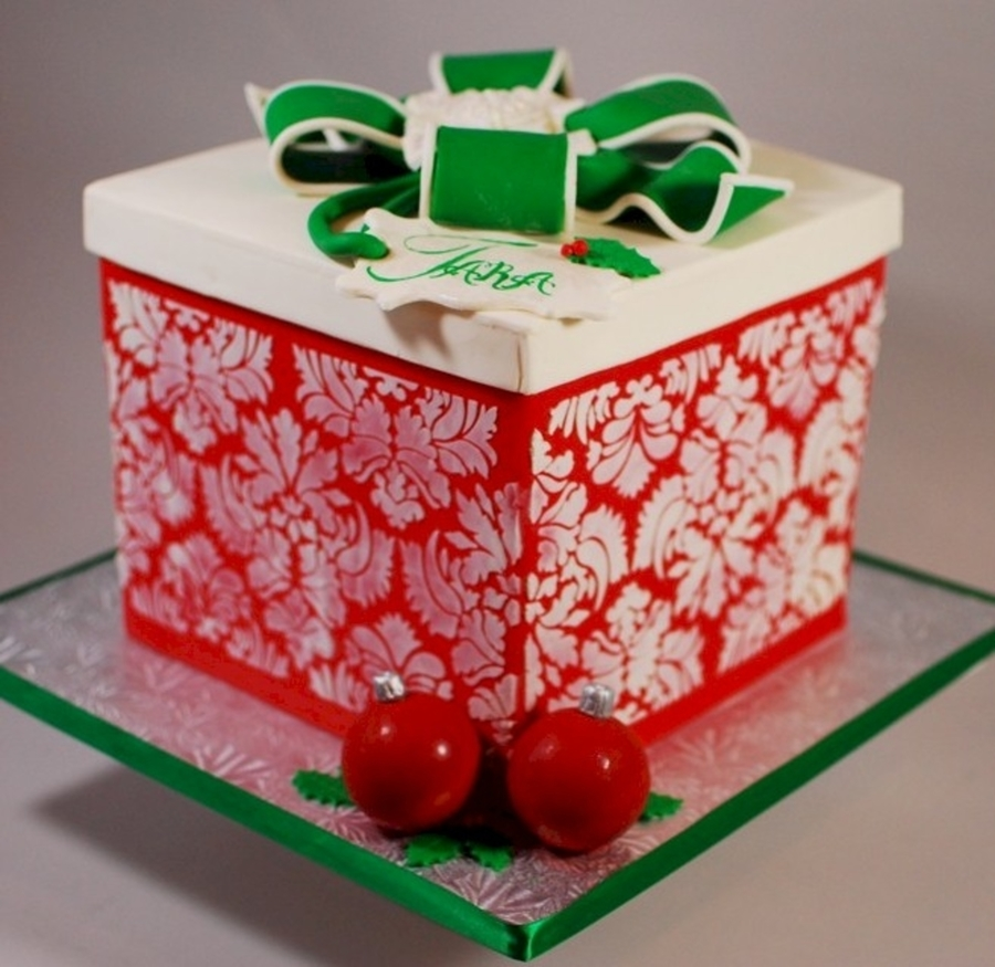 Christmas Package Cake on Cake Central