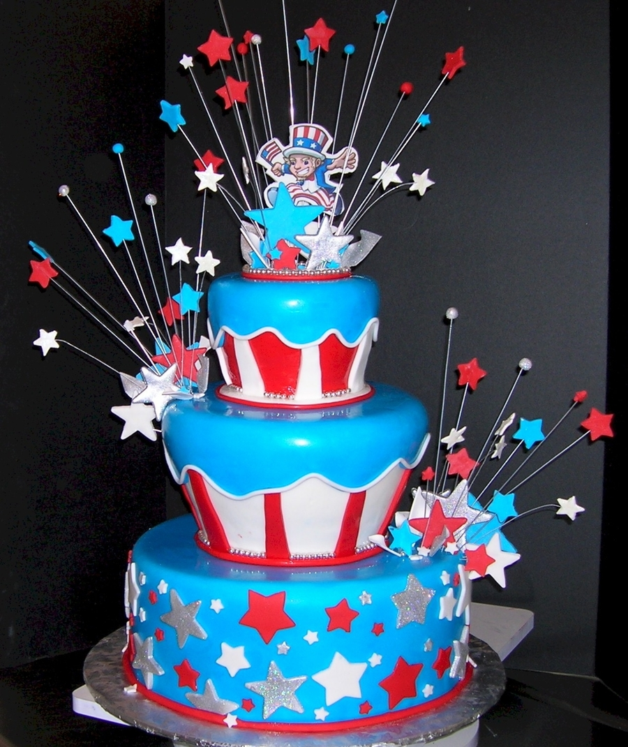 Star Spangled Supper 4th Of July Cake Cakecentral