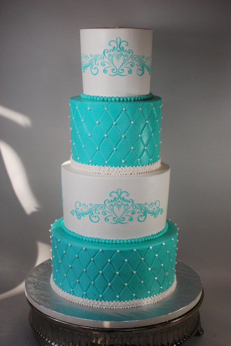 Disney Inspired Princess Blue Buttercream Wedding on Cake Central