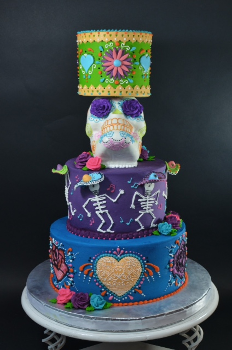 day of the dead cake day of the dead wedding cake cakecentral 3323