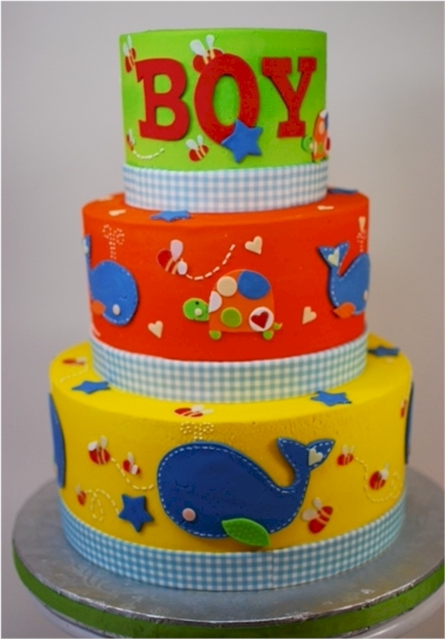 Ahoy Baby Boy Baby Shower Cake on Cake Central