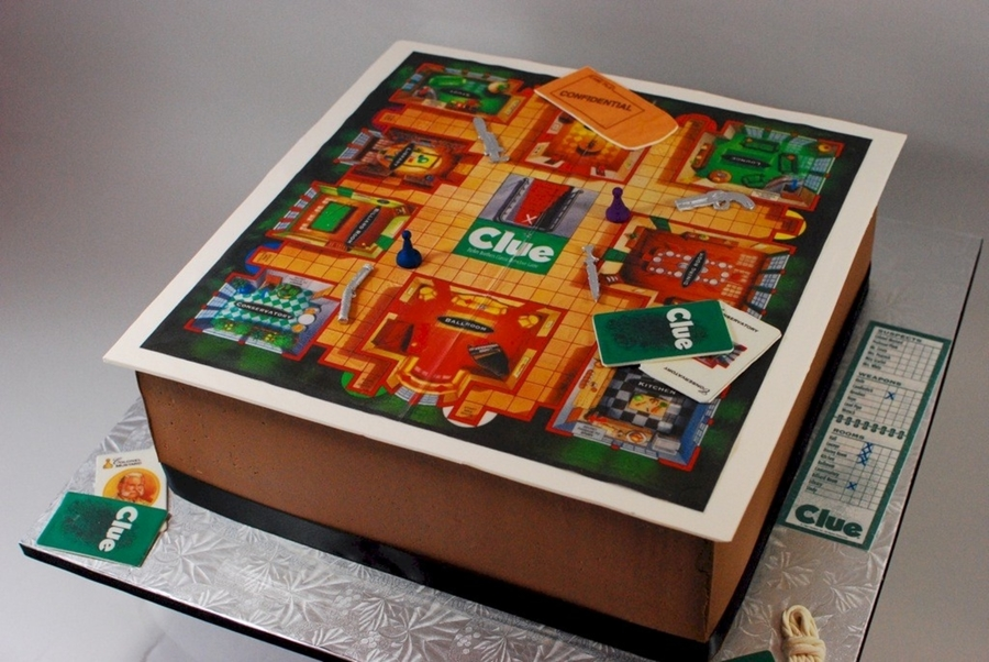 Clue Board Game Cake  on Cake Central