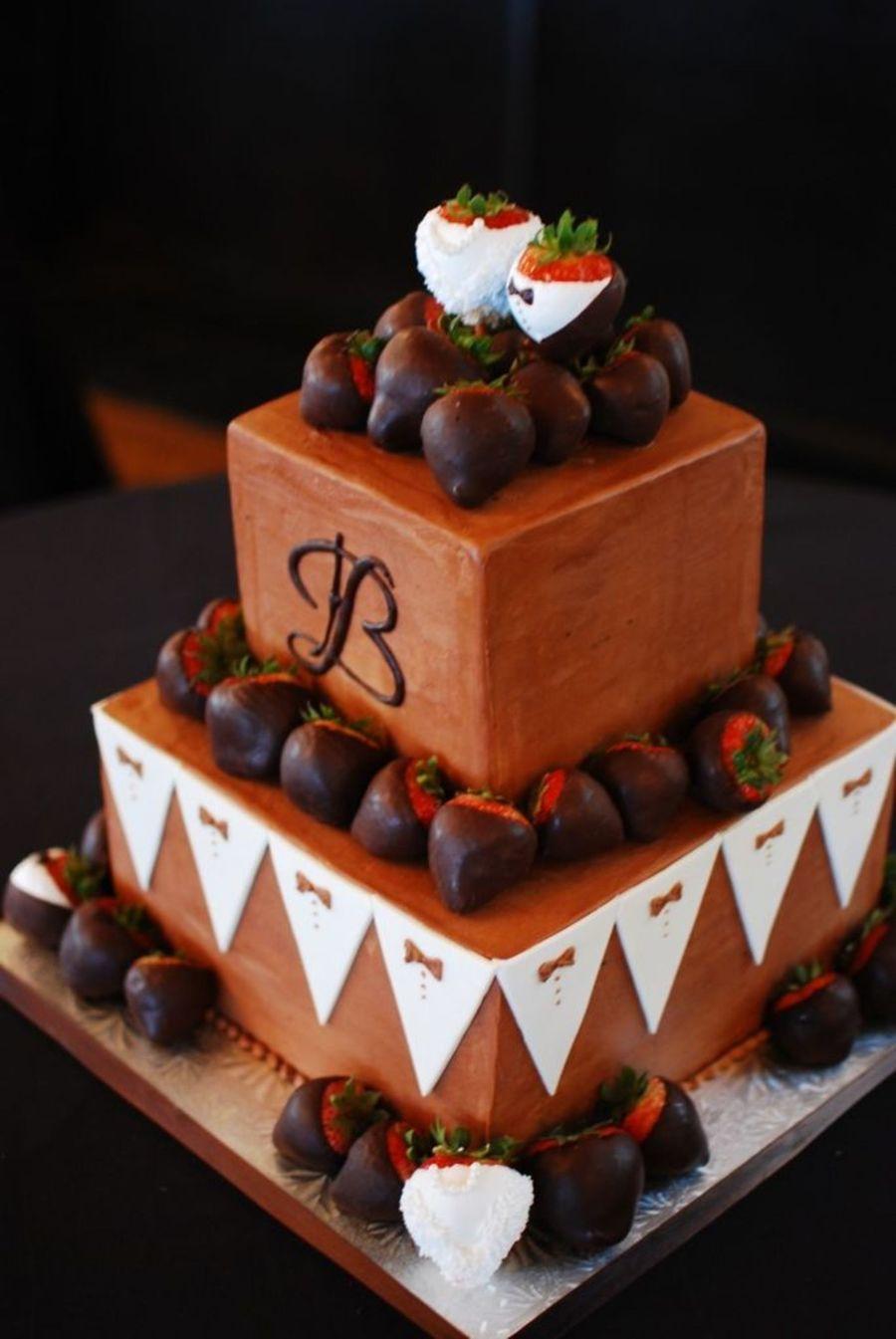 Tuxedo Themed Groom S Cake Cakecentral Com