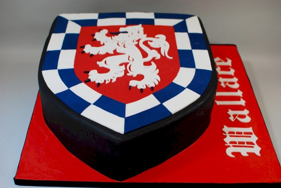 Family Crest Grooms Cake on Cake Central