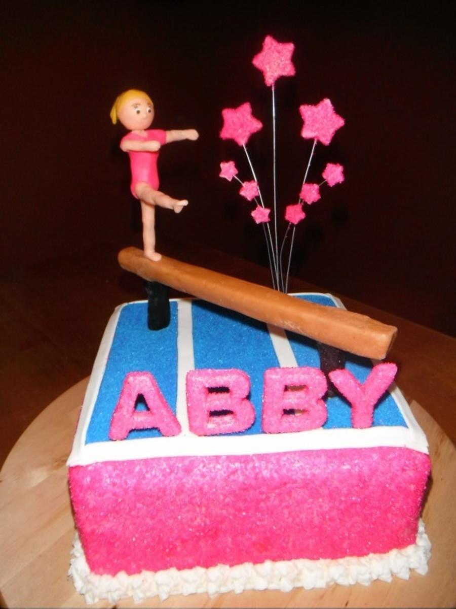 Abbys Gymnastics Birthday Cake Cakecentral