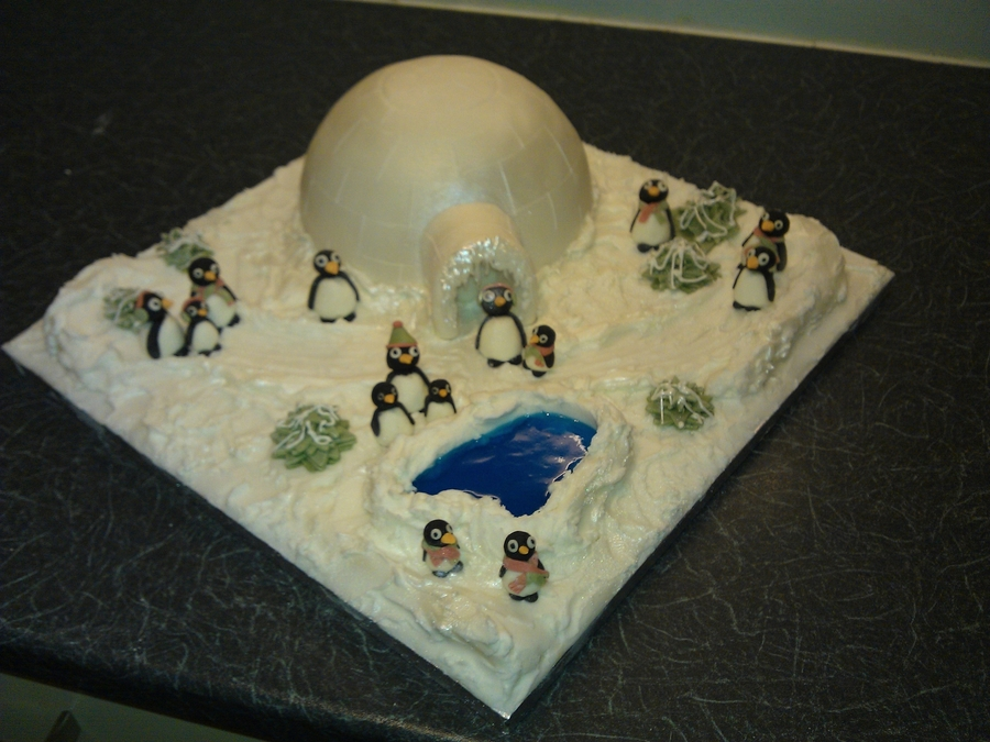 Penguin Fun! on Cake Central