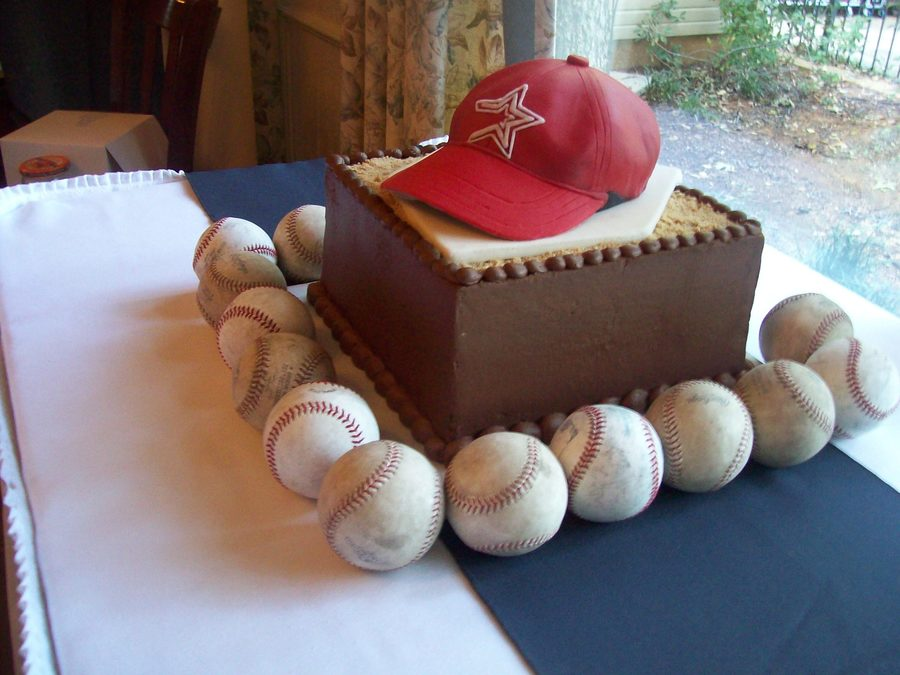 Chocolate Obsession Astros Cap on Cake Central