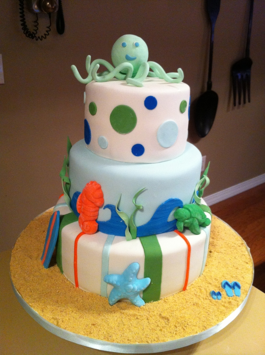 Octopus Baby Shower Cake on Cake Central