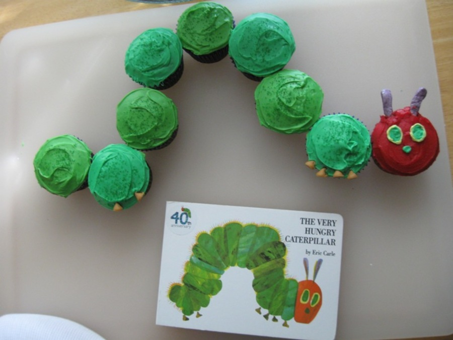Hungry Little Caterpillar Cupcakes  on Cake Central