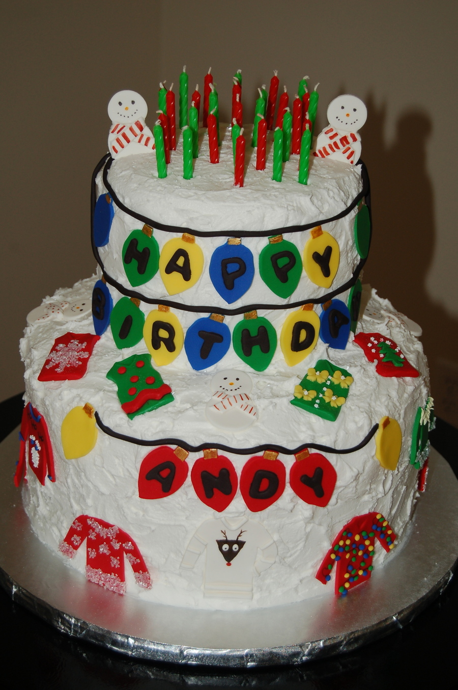 Tacky Christmas Sweater Birthday on Cake Central