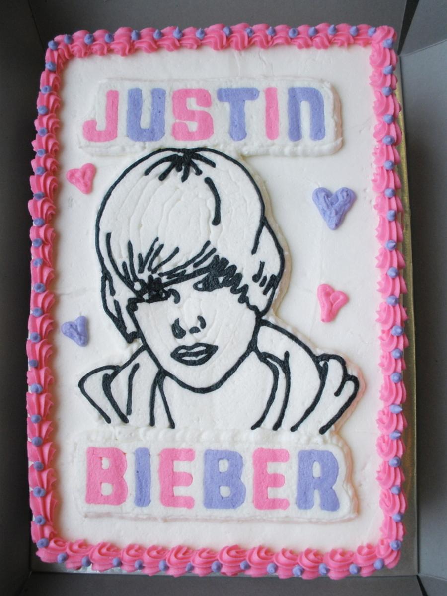 Fine Justin Bieber Birthday Cake Cakecentral Com Funny Birthday Cards Online Elaedamsfinfo
